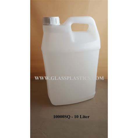 Square HDPE Container: 10 Liter - Glass & Plastic