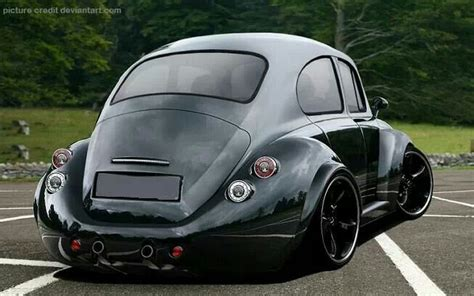 VW Beetle with stretched & rounded fenders, that seem to
