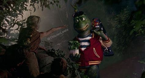 Photos of 'Jurassic Park' Scenes Mashed With the 90s TV