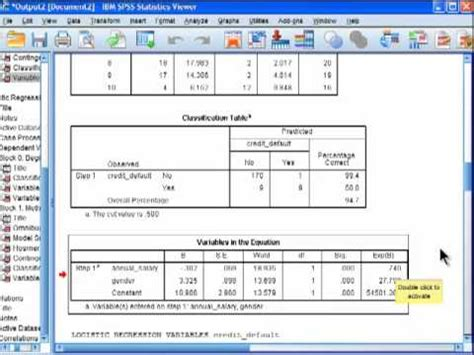 Logistic Regression - SPSS (part 5) - YouTube