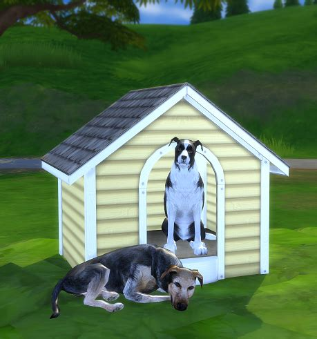 2 to 4 Dog House | SimsWorkshop