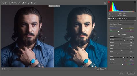 Color Editing and Retouch a Male Headshot Photo