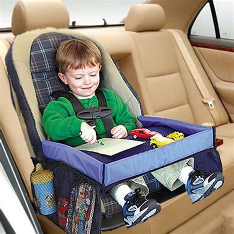 High quality Waterproof table Car Seat Tray Storage Kids