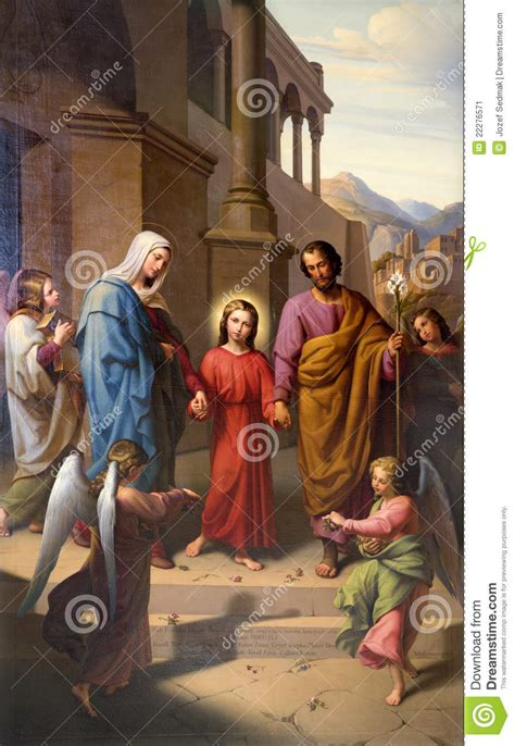 Holy Family From Vienna Church Stock Image - Image of