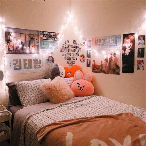 BTS BT21 inspired room   Army room decor, Aesthetic rooms