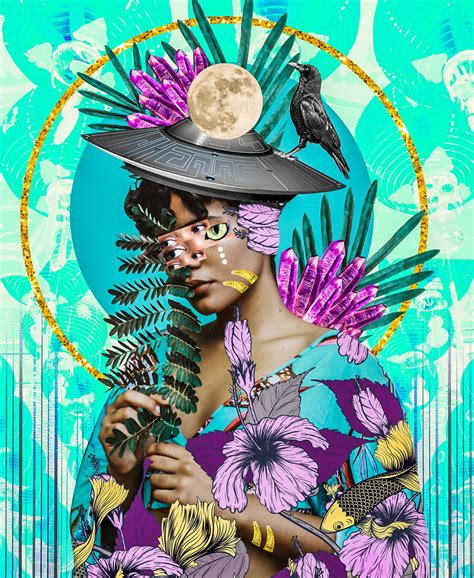 Stunning Electric and Vivid Collages by Visual Artist