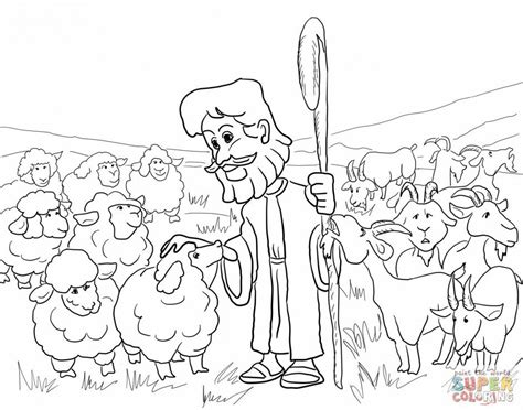 Goats and Sheep Coloring Page   Bible coloring pages