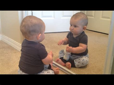 Who's That Baby In The Mirror? Baby Doesn't Recognize