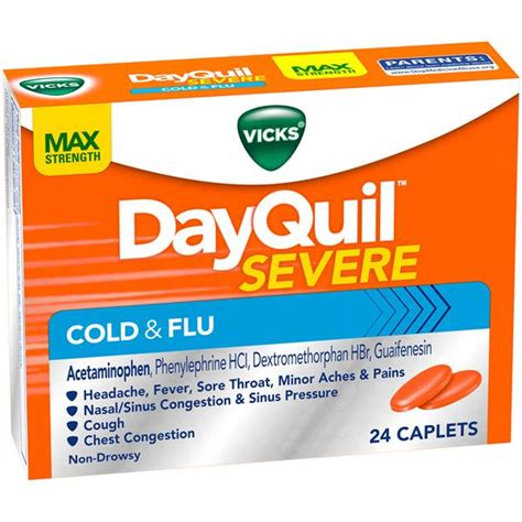 Vicks DayQuil Severe Cold & Flu Caplets | Hy-Vee Aisles