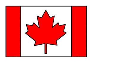 Canada Day Flag - Craft (Color Template)