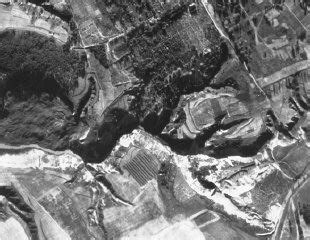 Aerial photograph of Babi Yar taken by the German air