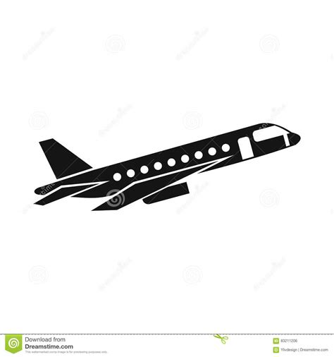 Airplane Taking Off Icon, Simple Style Stock Vector