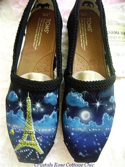 painted Toms shoes Eiffel Tower pairs airbrushed