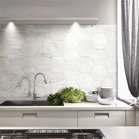 45 Eye-Catchy Hexagon Tile Ideas For Kitchens - DigsDigs